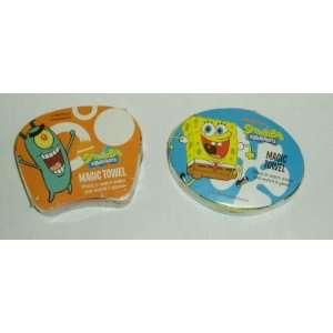 Nickelodeon Spongebob Squarepants Magic Pop Up Towels   Spongebob