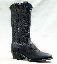 Ladies Abilene Cowboy Boots, Black, 9070