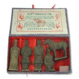 Chinese Terracotta Army Warrior Set 6 inches tall: Home & Kitchen