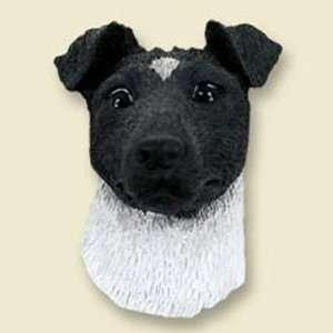 Fox Terrier, Black/White Dog Head Magnet (2 in)