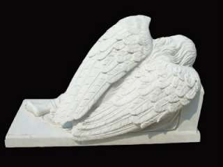 HAND CARVED MARBLE SLEEPING ANGEL WEEPING STATUE GS25