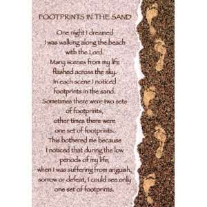 Encouragement Greeting Card   Footprints In The Sand by