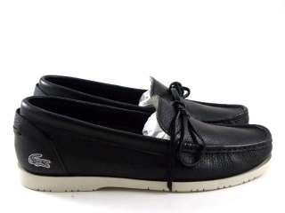 New Lacoste Luz 2 Black Leather/White Tennis Women Work Fashion Boat