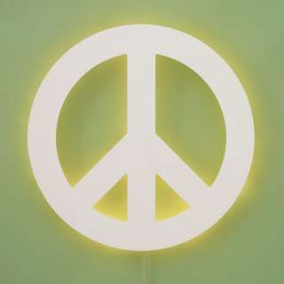 Pottery Barn Teen Peace Sign Wall Light New in Box