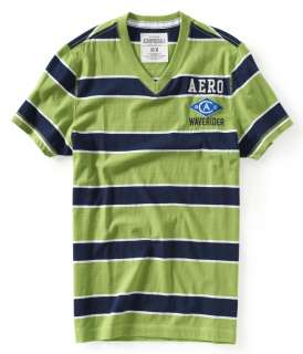 aeropostale mens aero waverider striped v neck tee shirt