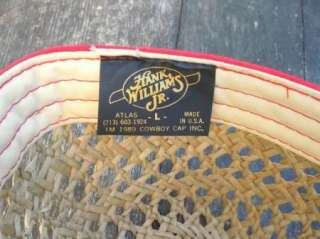 Hank Williams Jr Souvenir Hat Cowboy Cap 1989 Bocephus