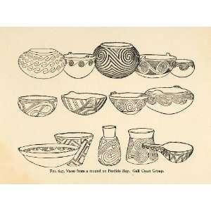 American Indian Artifact   Original Halftone Print