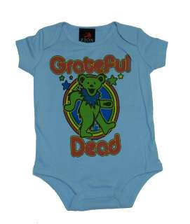 Grateful Dead Retro Dancing Bear Infant Baby Creeper Romper