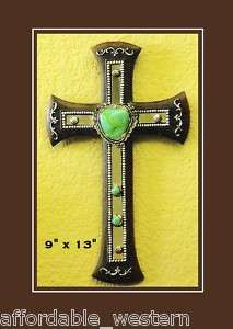 Western Home Decor  WALL CROSS  Mirror/TURQUOISE Stones
