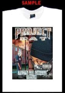 PROJECT PAT CUSTOM T SHIRT TEE rap hip hop project T128