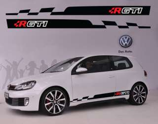 VW Volkswagen R GTI Logo Racing #4 Car Side Decal Sticker Full Color