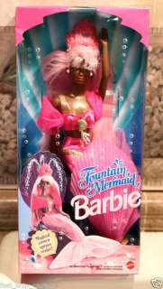 NEW Fountain Mermaid Barbie African American NRFB Black