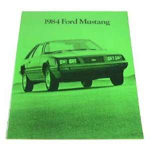 1984 84 Ford MUSTANG BROCHURE L LX GT Turbo SVO