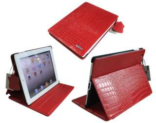 Crocodile smart Leather Case Cover w/Stand for Apple iPad 2 2nd