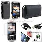 7PC Bundle For Blackberry Torch 9810 Clear Case Stylus