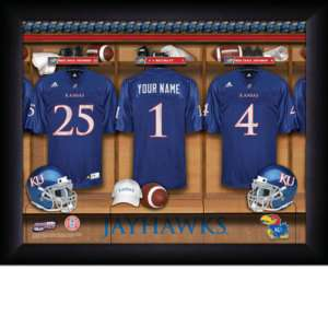 Personalized College Football Locker Room Print A N