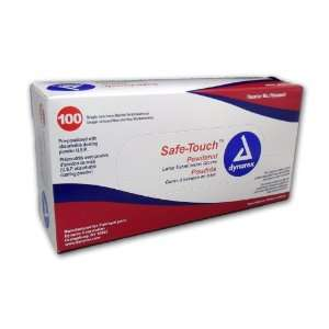 Safe Touch Disposable Latex Exam Gloves, Lightly Powdered, Size Extra