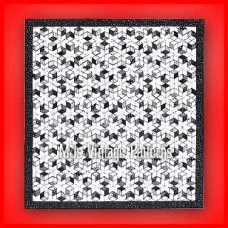 Vintage Quilt Pattern ~ Tumbling Blocks