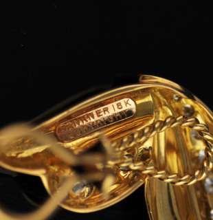 Dankner 1.16 ctw Diamond 18k Yellow Gold Earrings