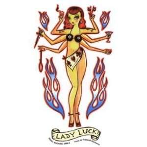 Archaic Smile   Lady Luck   Sticker / Decal Automotive