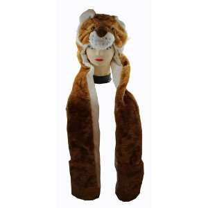 Animal Hat   Lion Hat with Ear Flaps and Hand Pockets Toys & Games