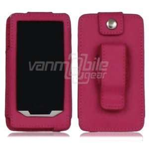 VMG Hot Pink Premium FV Leather Holster Case Cover w