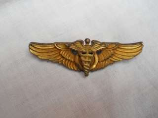 Force Flight Surgeon wings badge Sterling SIlver GF medal Amico