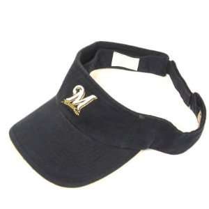 HAT OFFICIAL MLB MILWAUKEE BREWERS LOGO NAVY NEW: Sports & Outdoors