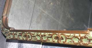 ANTIQUE AMERICAN VICTORIAN CARVED GOLD SECTIONAL WALL MIRROR/PANEL