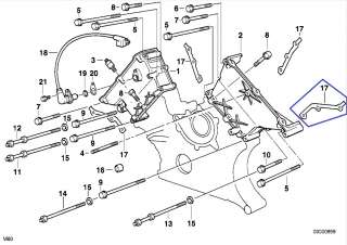 BMW M60 V8 Engine Timing Chain Case Gasket Seal 1433306