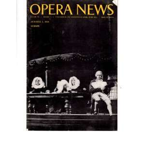 Opera News Magazine October 3, 1959 opeon Summer Season
