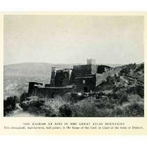 1929 Print Asni Kasbah Great Atlas Mountains Morocco