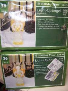 SET of 2 ~ HOLIDAY TIME Light up Angels 36 in Christmas indoor/outdoor
