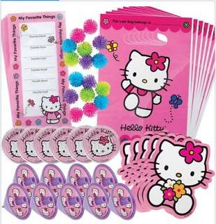 Hello Kitty Party Supplies Favor Value Pack with 48 pieces