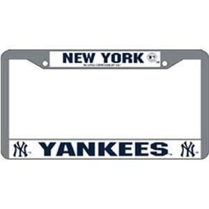 New York Yankees License Plate Frame   Chrome Sports