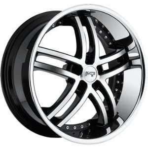 Niche Essence 22x10.5 Machined Black Wheel / Rim 5x120 with a 40mm