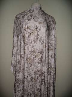 Spandex Jersey 4 way stretch knit Fabric Java Floral Print