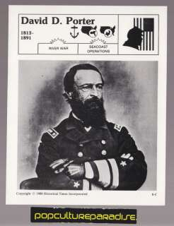 DAVID DIXON PORTER Union Navy U.S. Civil War BIO CARD