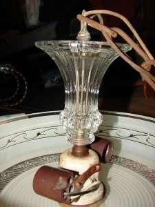 Vtg Underwriters Laboratories Glass Hanging Light Lamp