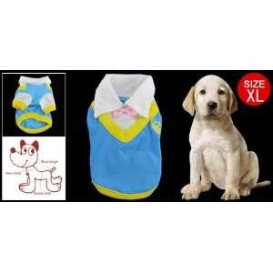 Como XL Pet Poodle Stand Collar Blue Cotton Shirt Bowtie: Pet Supplies