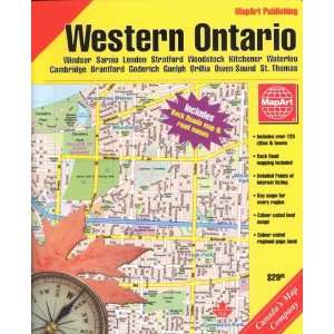Western Ontario Street Atlas (9781551984612) Map Art