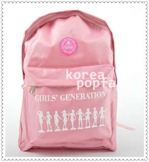SNSD girls Generation KPOP PINK SCHOOLBAG BACKPACK BAG
