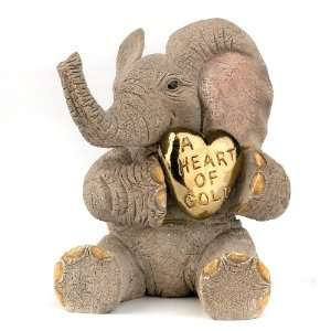 Tuskers Elephant Figurine Love isA Heart of Gold Toys