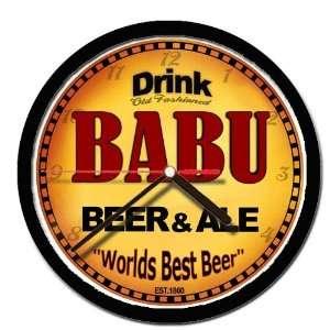 BABU beer and ale wall clock