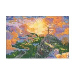 Thomas Kinkade The Cross Counted Cross Stitch Kit: Home & Kitchen