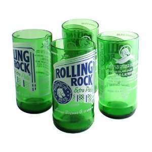 Recycled Rolling Rock Tumbler Glasses (Set of 4) Kitchen