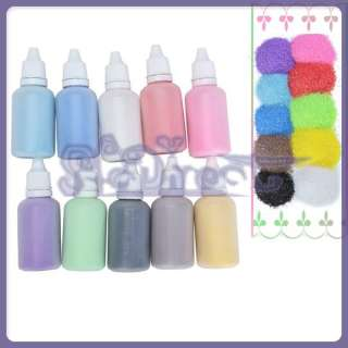 10 Bottles Colored Sand Art Craft Weddings Unity 50g