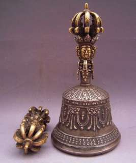 Old Tibet Tibetan Buddhist Bronze Vajra Bell and Dorje