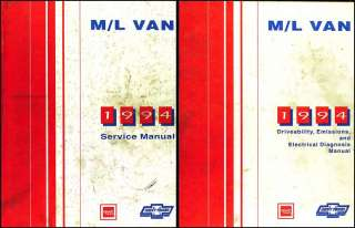 1994 Chevy Astro Van GMC Safari Repair Shop Manual Set 94 Original OEM