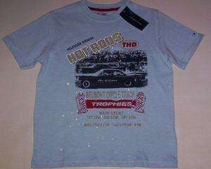 Tommy Hilfiger Blue Hot Rods Trophies Graphic Shirt Boys Size 7 New